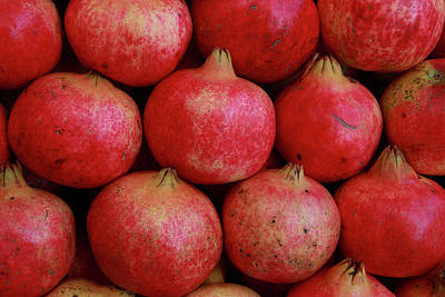 Local Food Photograph - Greece, Athens Fresh Pomegranates by Jaynes Gallery