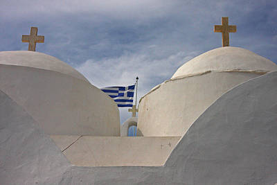 Christian Sacred Photograph - Greece, Cyclades, Sifnos, Vathi by Jaynes Gallery