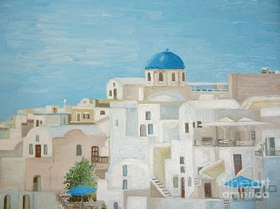 Painting - Greece by Reb Frost