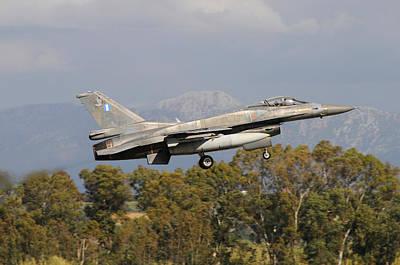 Photograph - Greek Air Force F-16c Block 52 Taking by Riccardo Niccoli