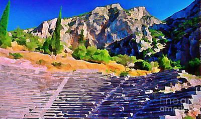 Greek Amphitheatre Art Print by John Malone