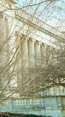 Art Print featuring the photograph Greek Architecture by Brigitte Emme