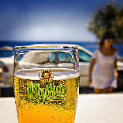 Beer Photograph - Greek Beer Goggles by Meirion Matthias