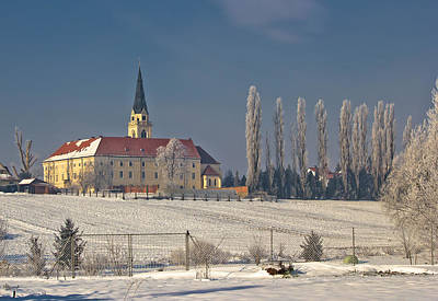 Photograph - Greek Catholic Cathedral In Snow Landscape by Brch Photography