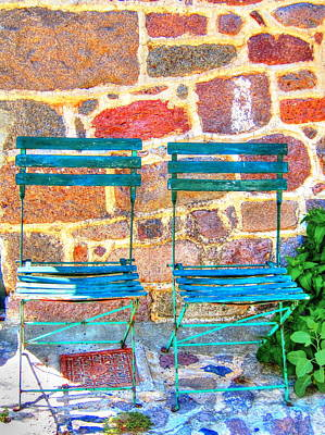 Peace Photograph - Green Chairs by Andreas Thust