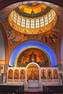 Photograph - Greek Church by Joann Vitali