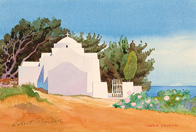 Greek Church Wc Art Print by Robert Tyndall
