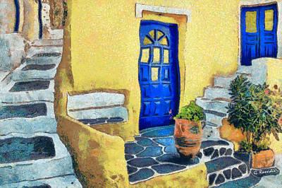 Greek Painting - Greek Corner 4 by George Rossidis