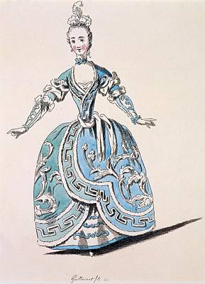 Operatic Drawing - Greek Costume For The Chorus by French School