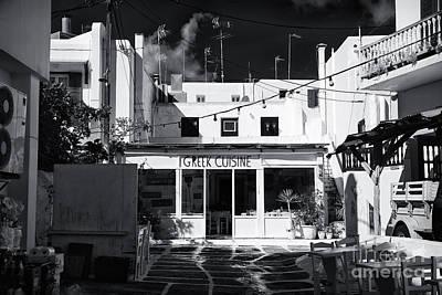 Photograph - Greek Cuisine In Mykonos by John Rizzuto