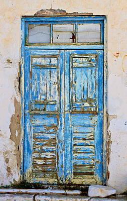 Greek Door Art Print by John Babis