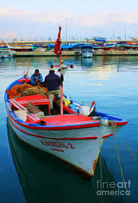 Photograph - Greek Fishing Boat by Tom Griffithe