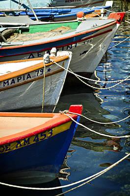 Photograph - Greek Fishing Boats by Meirion Matthias
