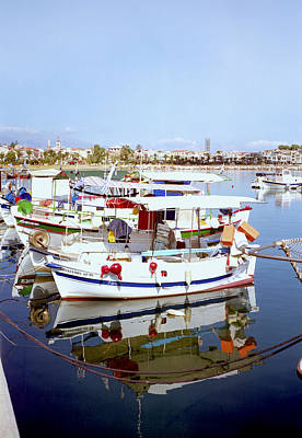 Photograph - Greek Fishing Boats by Paul Cowan