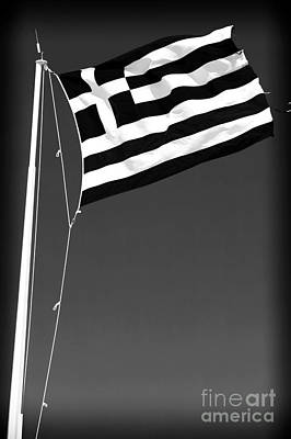 Greek Flag Art Print by John Rizzuto