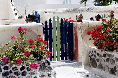 Photograph - Greek Garden Gate by Brenda Kean
