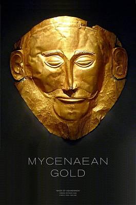Greek Gold - Mycenaean Gold Art Print by Helena Kay