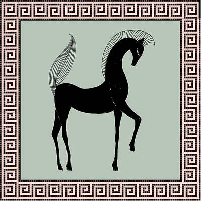 Digital Art - Greek Horse Sage by Stephanie Grant