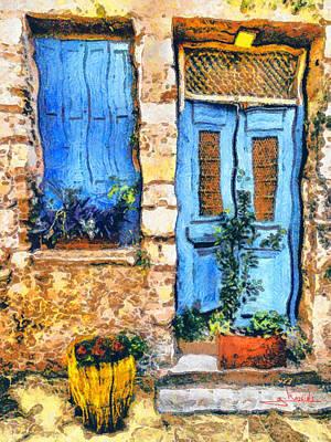 Greek House 66 Art Print by George Rossidis
