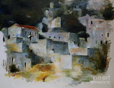 Painting - Greek Village by Karina Plachetka