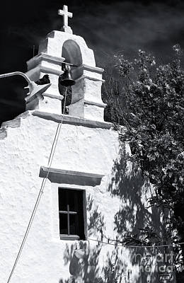 Photograph - Greek Orthodox On Mykonos Mono by John Rizzuto