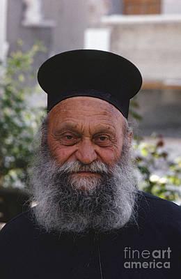 Clergy Photograph - Greek Orthodox Priest by Heiko Koehrer-Wagner