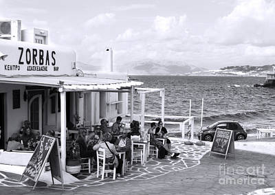 Photograph - Greek Restaurant By The Beach by Haleh Mahbod