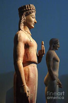 Greek Sculpture Athens 1 Art Print