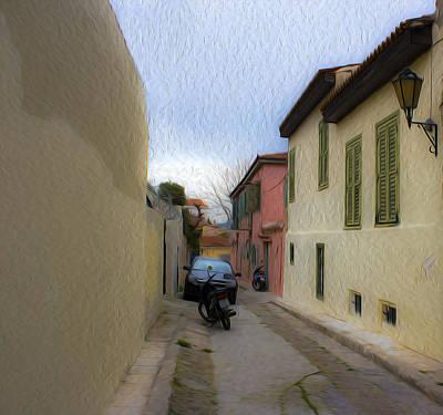 Photograph - Greek Street by Radoslav Nedelchev