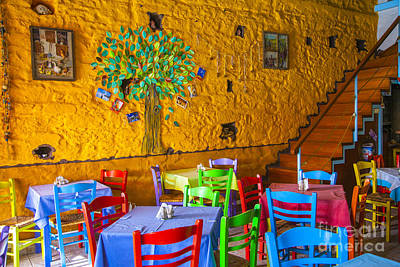 Greek Taverna Art Print by Eleni Mac Synodinos