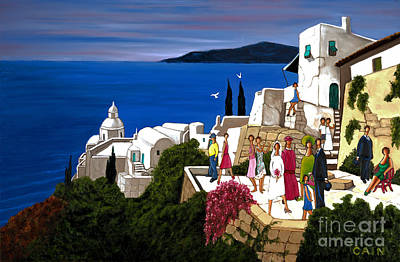 Greek Wedding Art Print