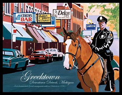 Greektown Original by Lance Graves