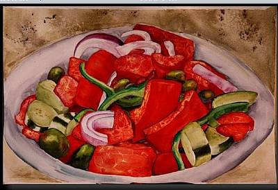 Painting - Greek Salad by Diane Ziemski