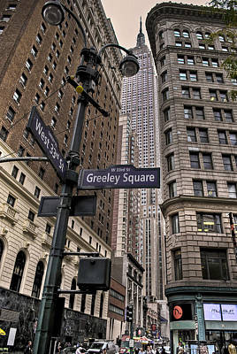 Greeley Square Art Print by Ryan Crane