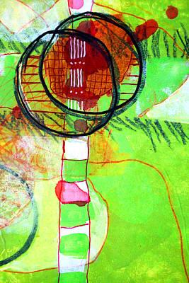 Mixed Media - Green 1 by Nancy Merkle