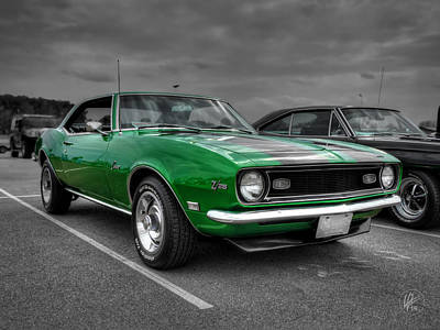 Muscle Cars Photograph - Green 1968 Camaro Z28 by Lance Vaughn