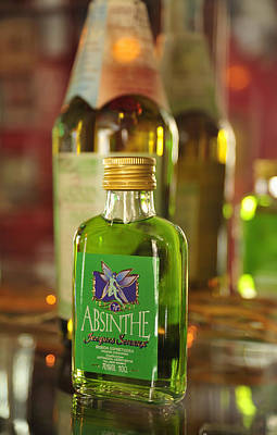 Photograph - Green Absinthe In Small Bottle by Matthias Hauser