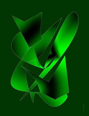 Green Abstract Art Art Print by Mario Perez