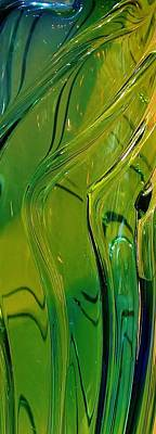 Green Abstract Print by Bruce Bley