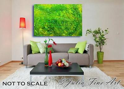 Colorful Abstract Painting - Green Abstract by Julia Fine Art And Photography
