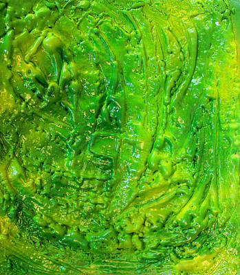 Green Abstract Painting  Art Print