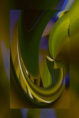 Digital Art - Green Abstract by rd Erickson