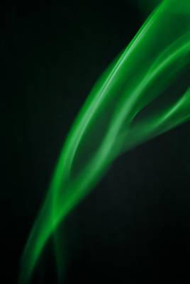 Animal Paintings David Stribbling - Green smoke abstract by Michalakis Ppalis