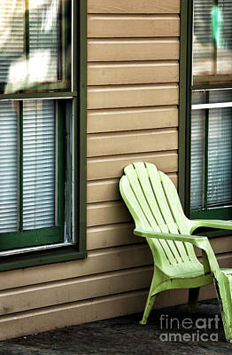Photograph - Green Adirondack Chair by John Rizzuto