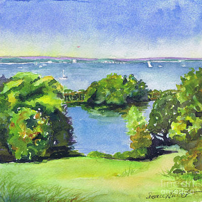 Painting - Green And Blue Caumsett by Susan Herbst