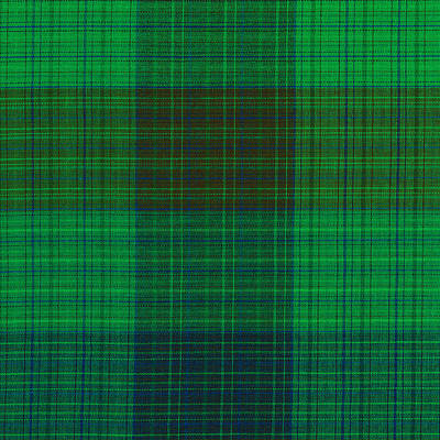 Green And Blue Plaid Fabric Background Art Print by Keith Webber Jr