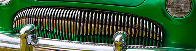 Art Print featuring the photograph Green And Chrome Teeth by Mick Flynn