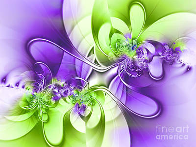 Digital Art - Green And Purple by Lena Auxier