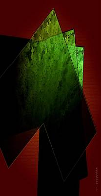 Spots Digital Art - Green And Red by Mario Perez