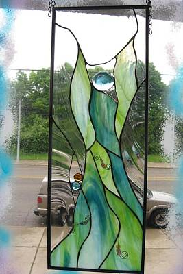Glass Art - Green Angel by Karin Thue